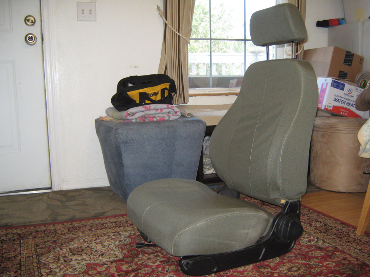 Military Skoolie Driver's Seat