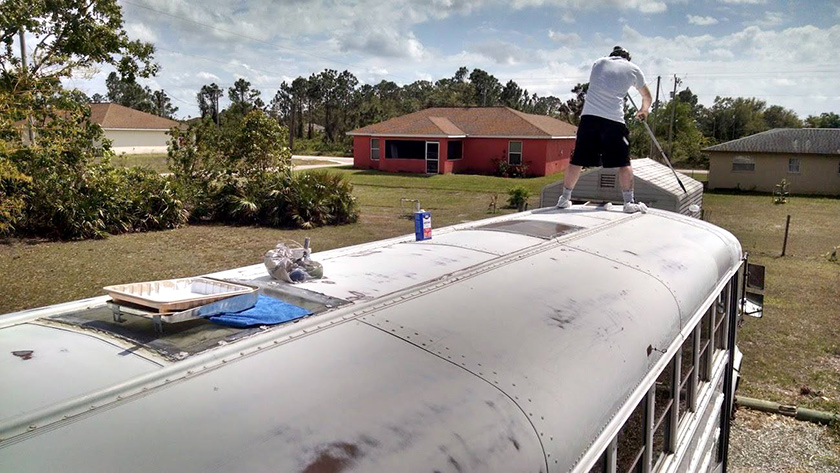 The paint on the roof was like chalk, it sanded off every easy.