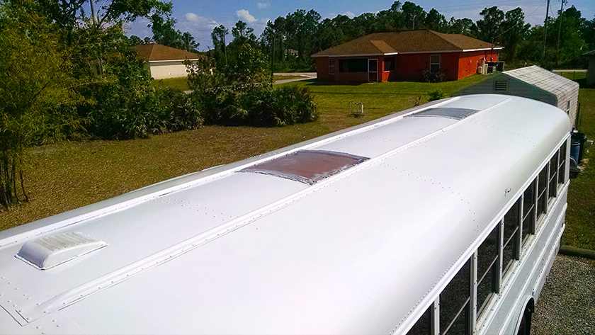 The roof looked great after a fresh coat of Rust-O-leum Paint.