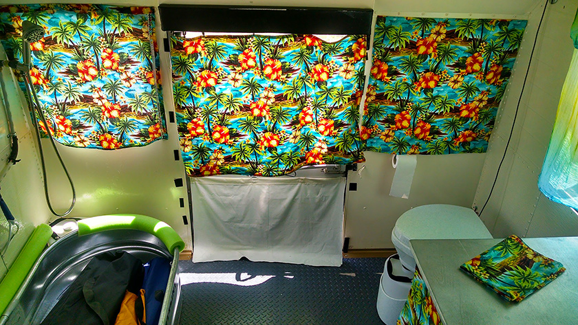 Our Skoolie is only a 9 window bus but we found enough space for a full bathroom.