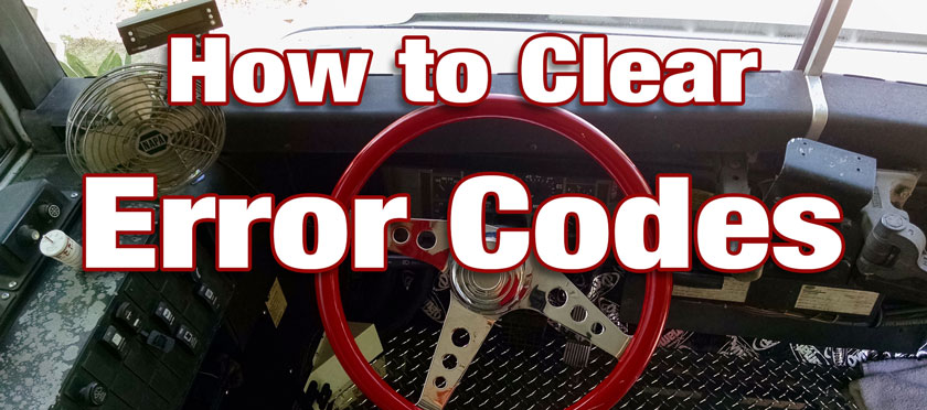 How to clear International 3800 Engine Error Codes | The Bus