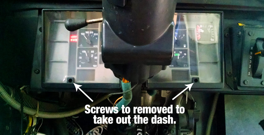 Removing a Skoolie Dash